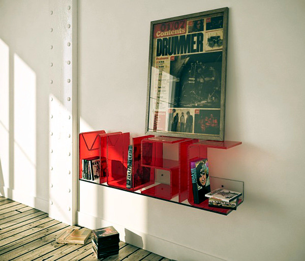 Ricard Mollon shelves design can be expressed in words