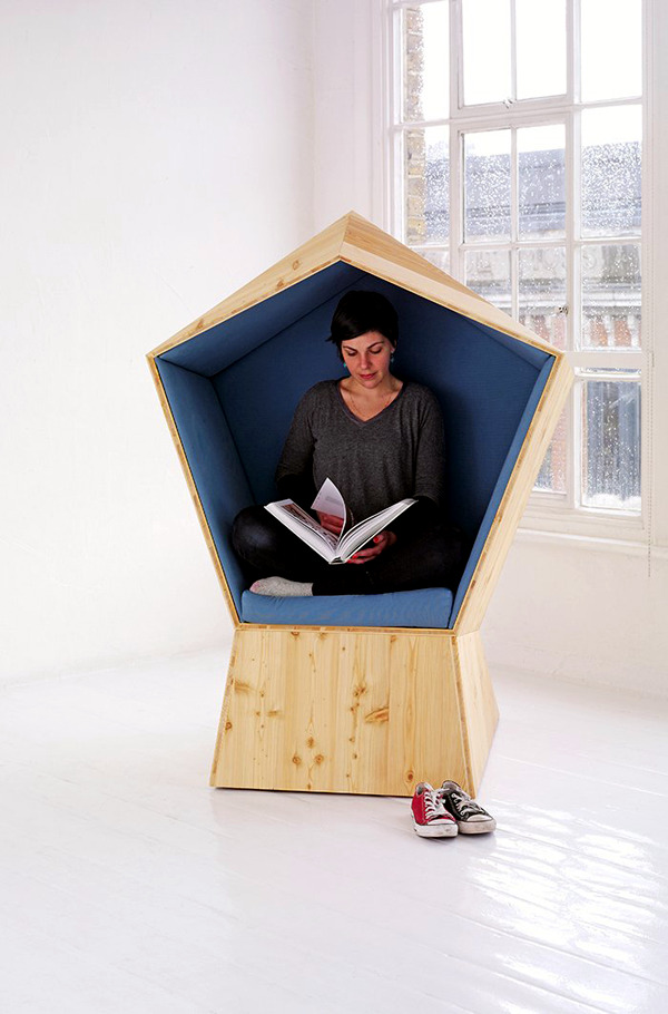 TILT reading chair design provides maximum protection of privacy