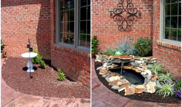 Build A Landscape Pond : How to build a garden pond low maintenance itself in 7 Steps