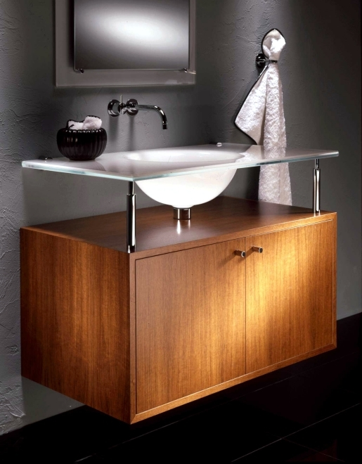 Vitraform modern glass sink vanity vessel