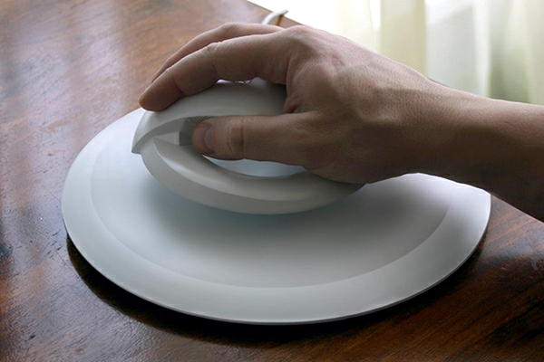 Hi-Tech Innovation - Ergonomic Computer Mouse is hovering in the air