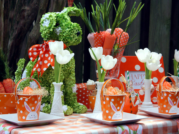 Beautiful Easter decoration on table - 21 creative ideas in bright colors
