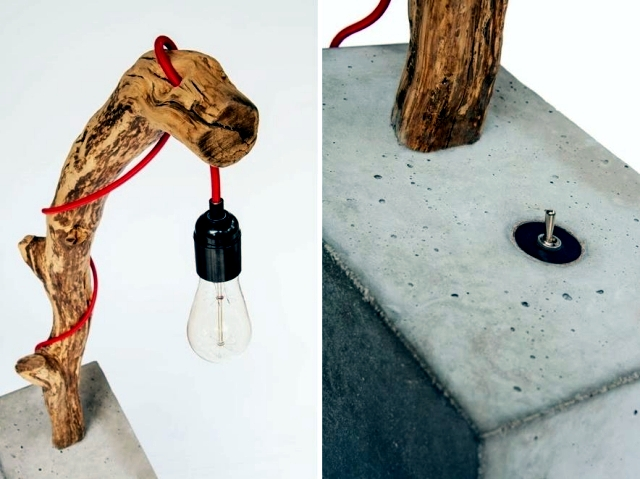 "Design lamp ""Torch"" for lovers of unusual things"