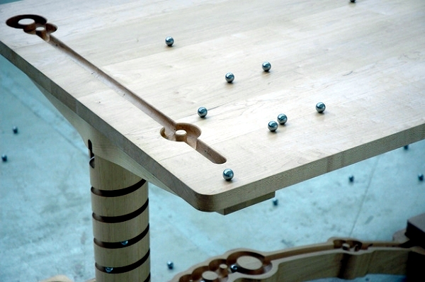 Dining table wooden playful design a great career marble dining