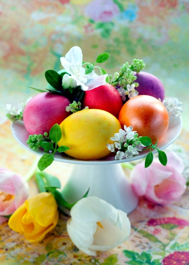 20 decorating ideas for creative table arrangements Easter nest