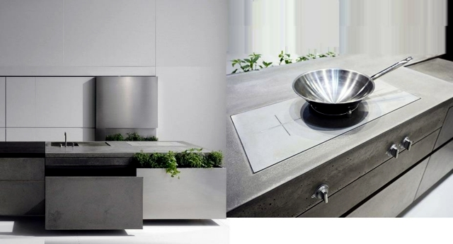 High quality concrete modern kitchen by Steininger