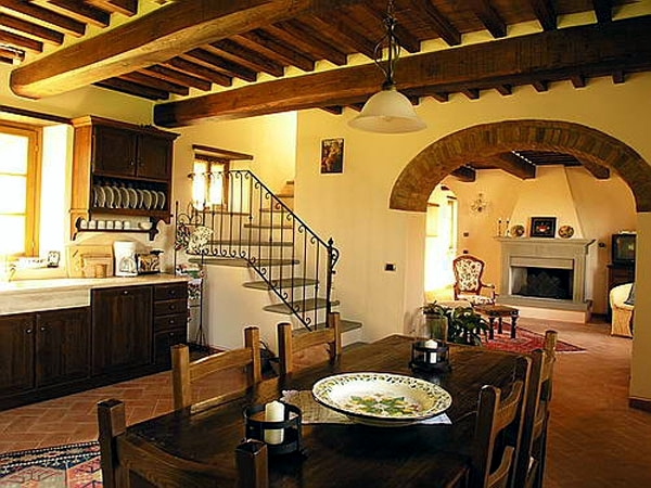 Modern decor with the concept of rustic life in the Tuscan style