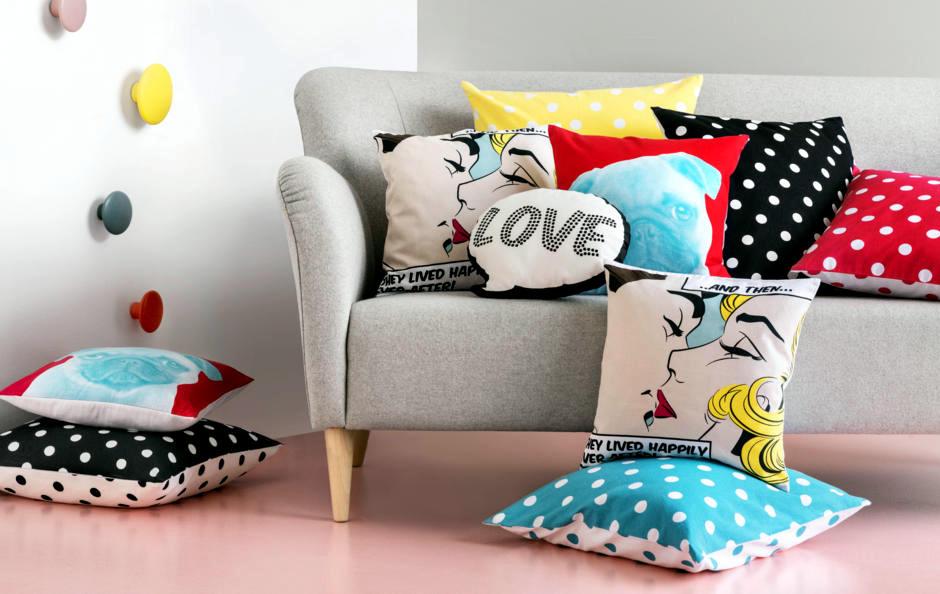 Spice Sofa With Colorful Pillows Interior Design Ideas Ofdesign