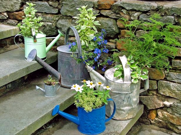 Former Garden Accessories And Utensils With A New Function