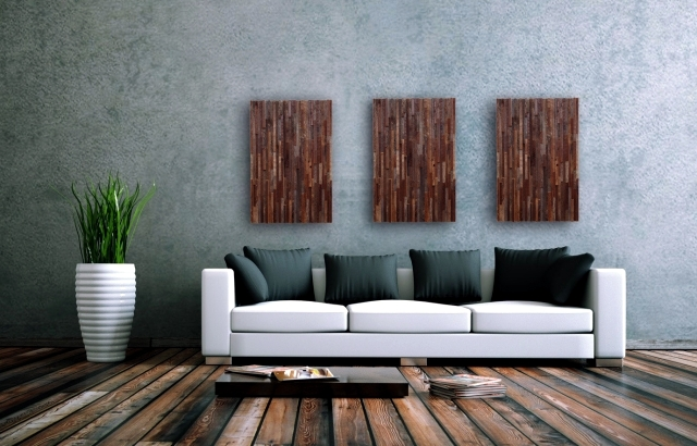 Recycled wood contemporary wall art brings the outdoors inside interior design ideas ofdesign - Japanese style garden furniture brings harmony into your life ...