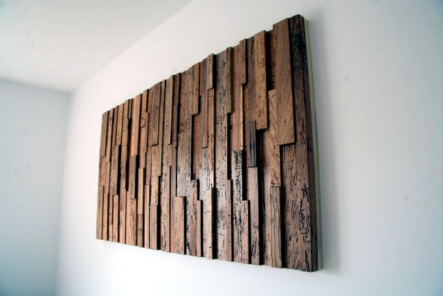 Recycled Wood Contemporary Wall Art Brings The Outdoors