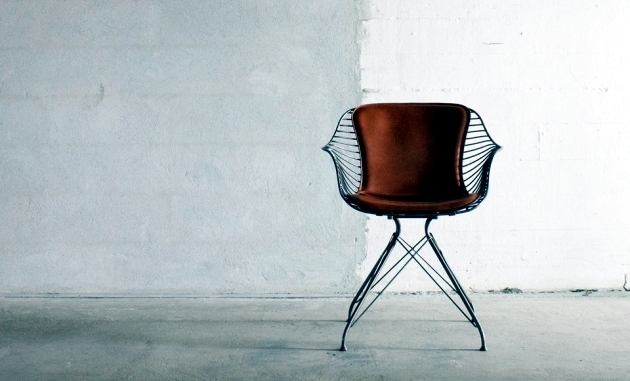 "Handmade Collection ""Wire"" leather furniture and metal"