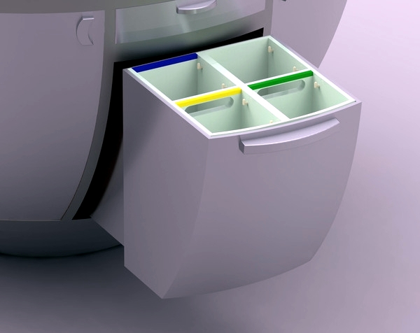 """Mini kitchen futuristic design - """"Soria"""" by Vitor Xavier"""