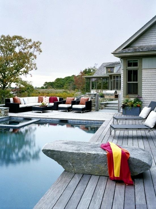 Bangkirai Wood Terrace - 20 great ideas for garden design