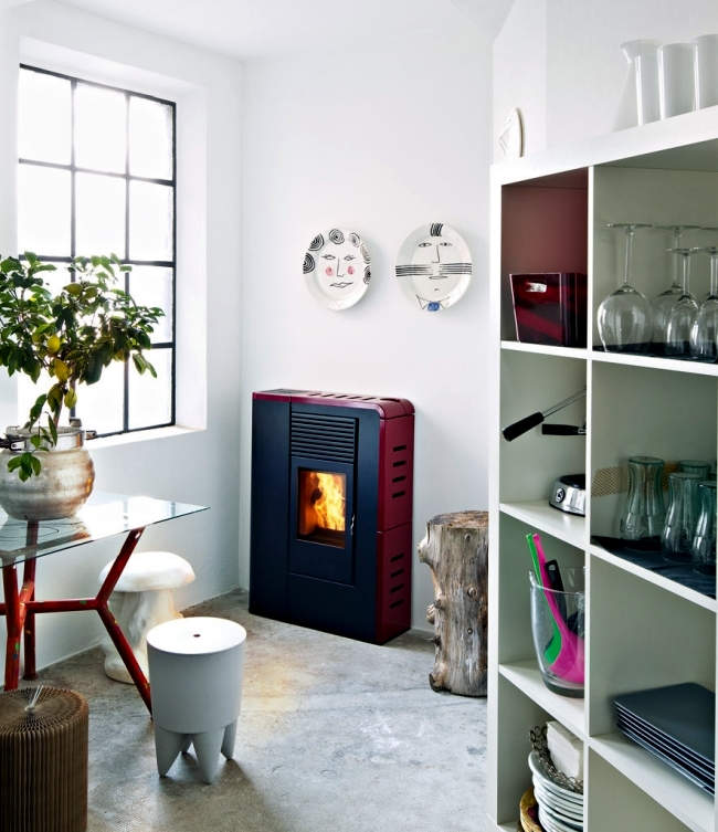 MCZ pellet stove - high efficiency, proprietary technology, modern design