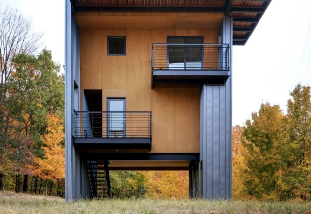 Architect Wooden House Perfect Concept Of Small Plots