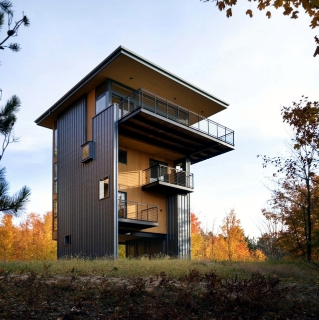 Architect wooden house perfect concept of small plots for Best house design usa