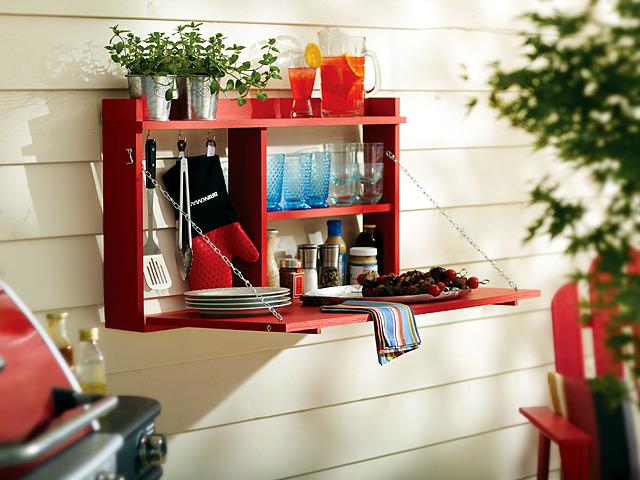 build a balcony Build A Small Closet With Folding Table For Balcony