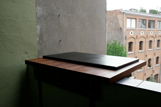 wooden furniture with architectural aspect of Mathias De Ferm