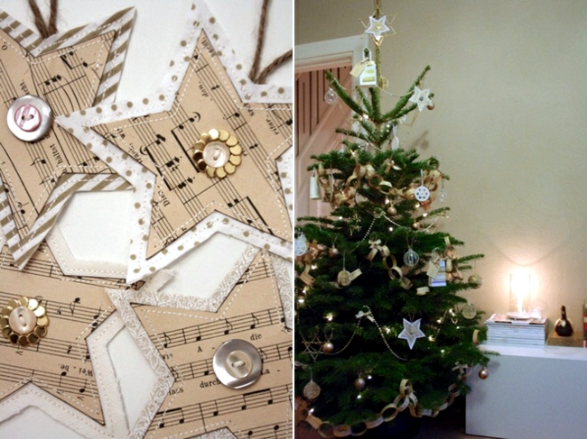 Christmas Tree Music Festival craft paper - quick tutorial