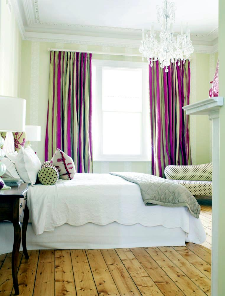 Striped Curtains In The Bedroom Fun