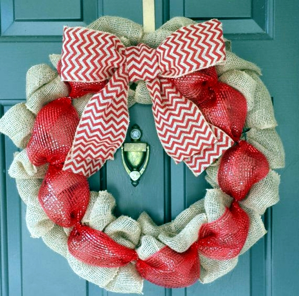 Craft Christmas wreath - 14 ideas with unusual materials