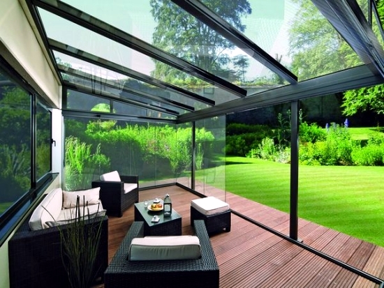 glass roof terrace for the benefits of a glass canopy On terrace design with glass