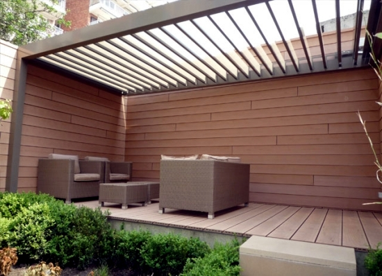 Glass roof terrace for the benefits of a glass canopy for Roof awning design