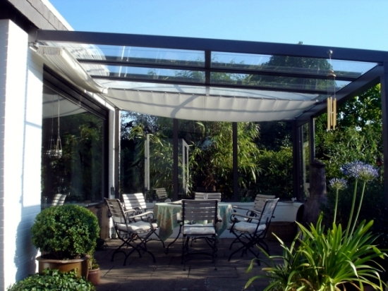 Glass Roof Terrace For The Benefits Of A Canopy