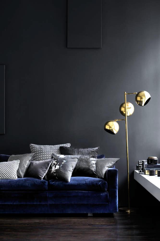 Dark Living Room Furniture Interior Design Ideas Ofdesign