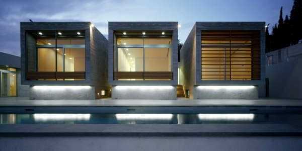 Geometric shapes define modern residence in Athens Kavouri