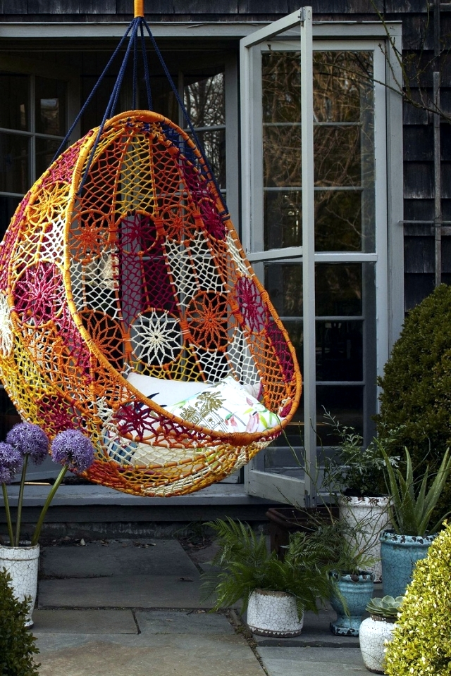 51 ideas for garden hammock, the pool and the house, providing idyll