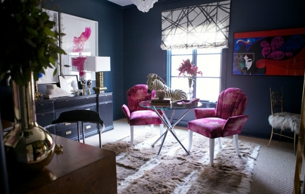 Living room design trendy Purple Orchid