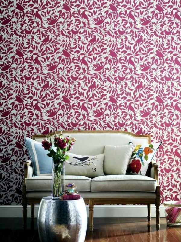Living room design trendy Purple Orchid
