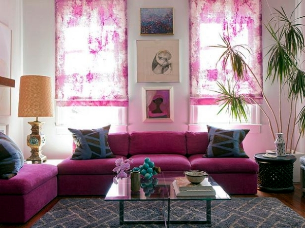 Living room design trendy Purple Orchid | Interior Design Ideas ...