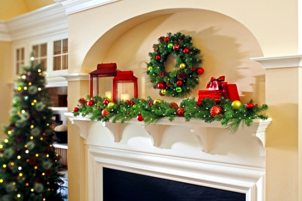 Decorating the Christmas fireplace - 20 great ideas for crafts