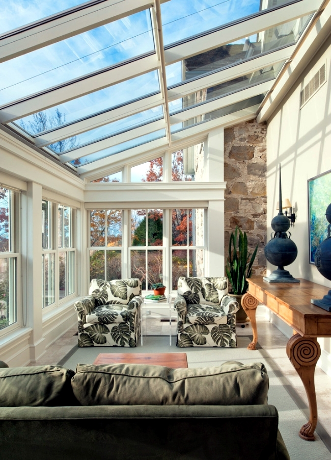 Enjoy the winter sun behind glass - The conservatory