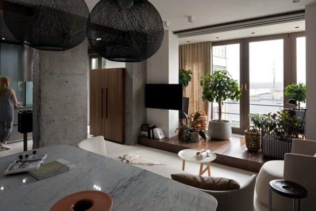 Renovated apartment in the style of KENZO by Olga Akulova