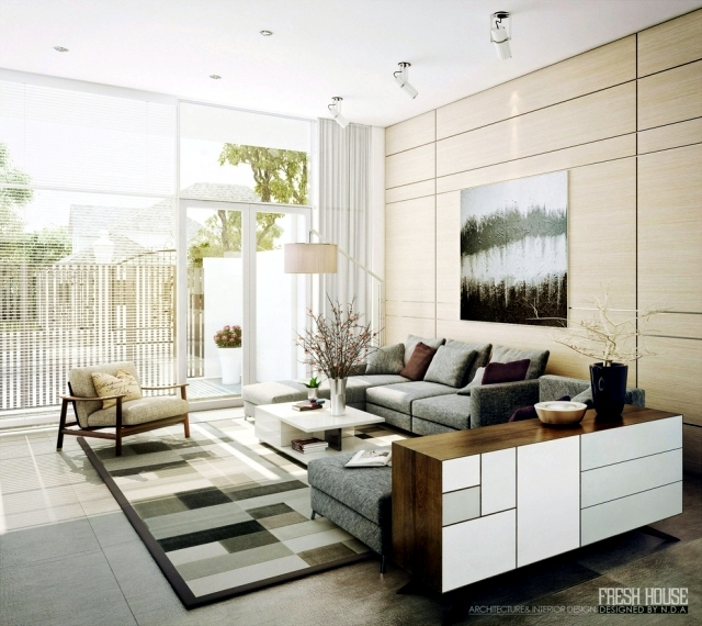 ... 62 Ideas For The Living Room Set In Neutral Colors ...