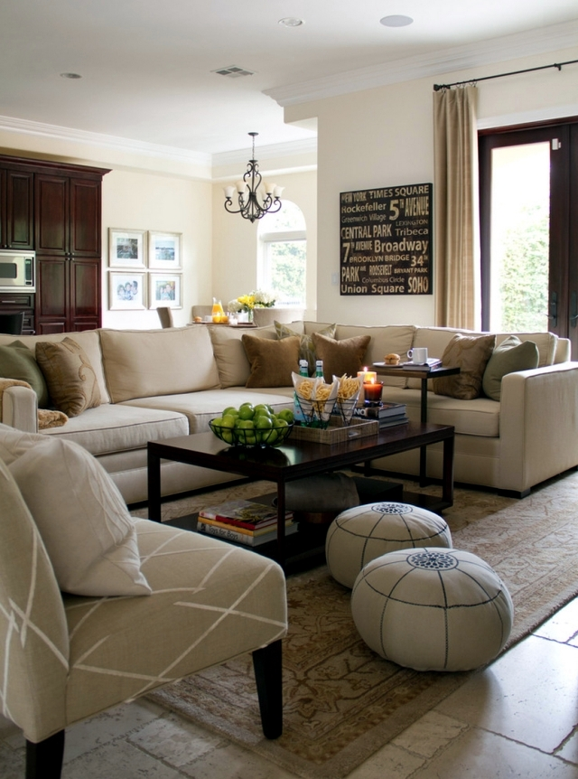 Neutral Color Living Room Designs: 62 Ideas For A Living Room In Neutral Colors