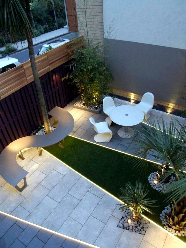 Design Ideas For The Roof Terrace   Plants And Light Effects