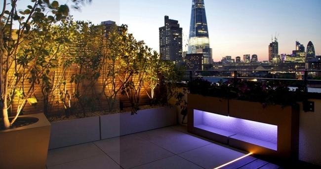Design ideas to the roof terrace designer Amir Schlezinger