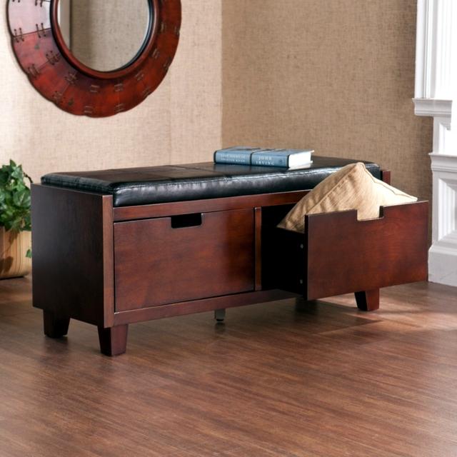 Storage bench in the hallway - 20 ideas for hallway space saving furniture