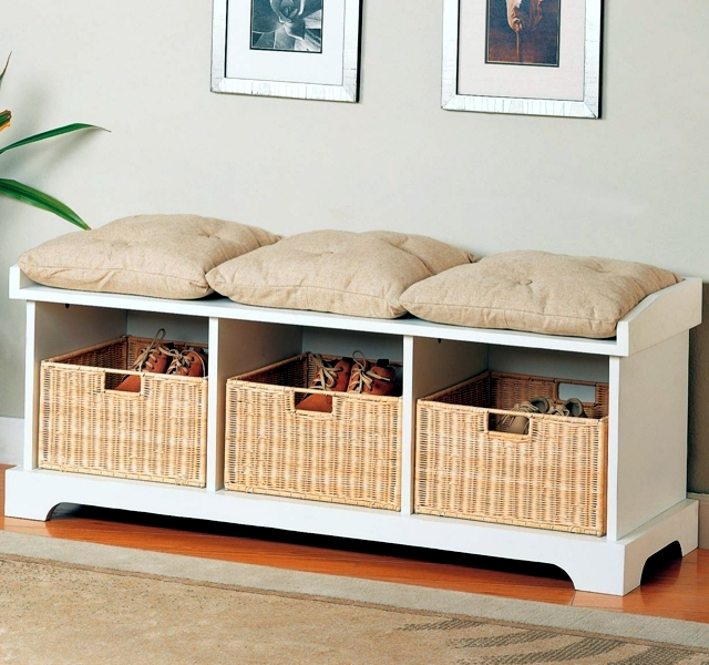Storage Bench In The Hallway 20 Ideas For E Saving Furniture