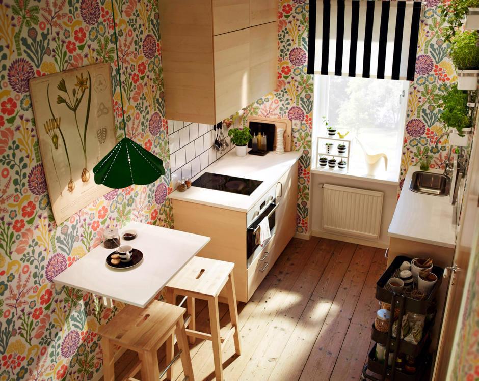 Wallpaper With Floral Pattern Interior Design Ideas Ofdesign