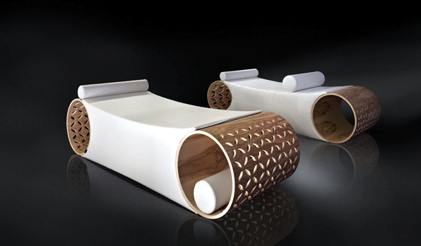"""The olive wood modern armchair """"Starlit"""" - true Spa experience"""