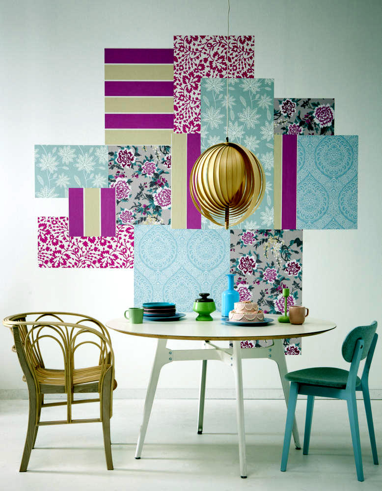 Collage Of Wallpaper Patterned Wall As A Picture