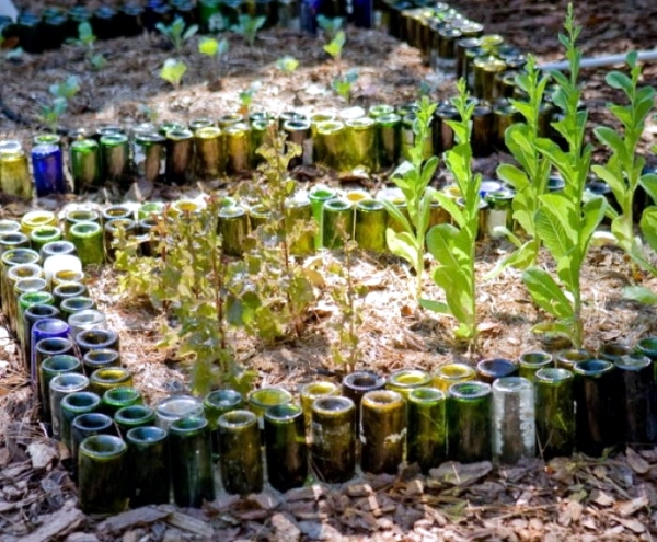Use Empty Wine Bottles In The Garden Again 20 Clever