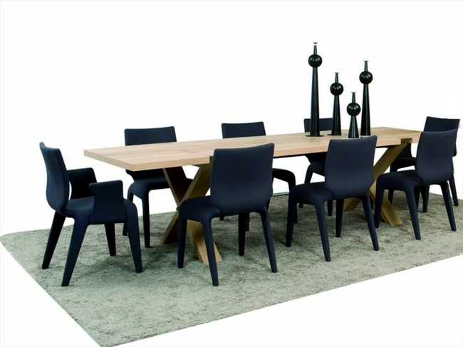 Extendable dining table wooden impressive smoothness