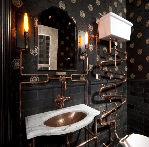 Modern interior design and exquisite decoration Steampunk style